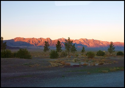 Sunrise at Longstreet RV Nevada