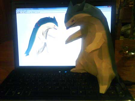 Pokemon Typhlosion Papercraft