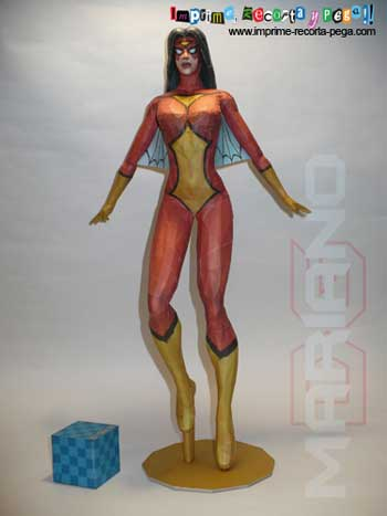 Marvel Comics Papercraft - Spiderwoman