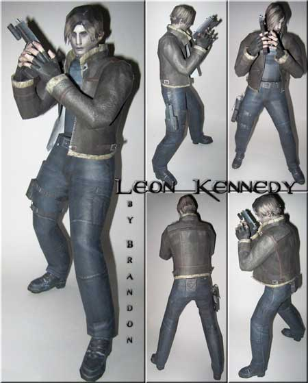 Leon S. Kennedy Papercraft