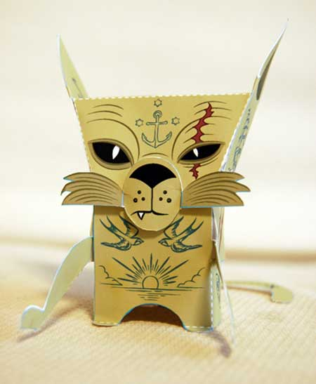 Salty Tom Paper Toy
