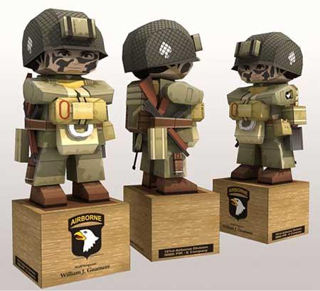 Paratrooper Papercraft