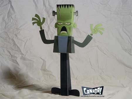 Frankenstein Paper Toy
