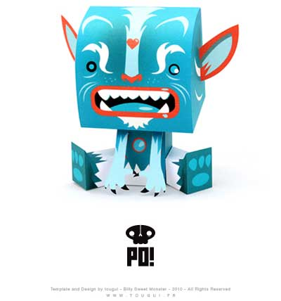 Billy Sweet Monster Paper Toy PO
