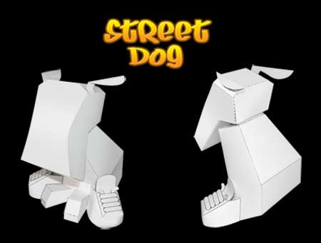 Street Dog Papercraft