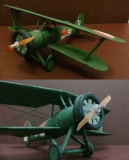 Yokosuka K5Y1 Biplane Papercraft