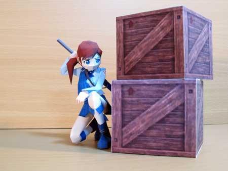 Natsumi Papercraft Kneeling