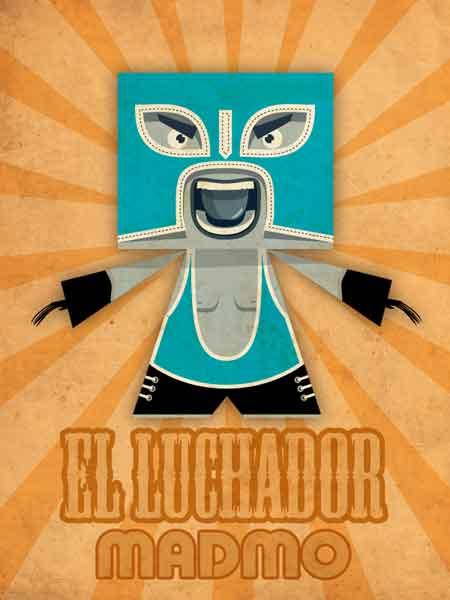 Madmo El Luchador Paper Toy