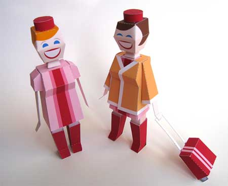 Flight Attendant Papercraft