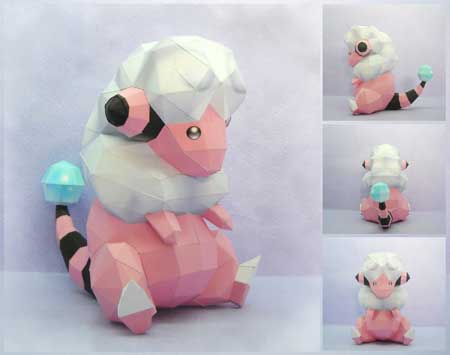 Pokemon Flaaffy Papercraft