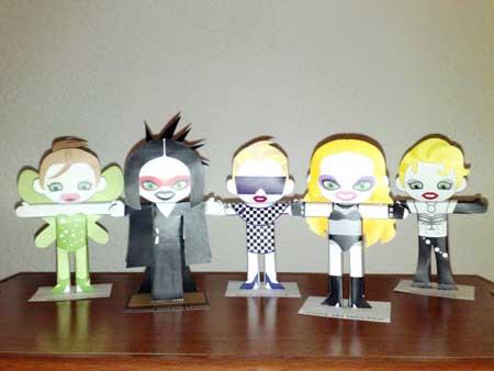 Kylie Minogue Papercraft Dolls