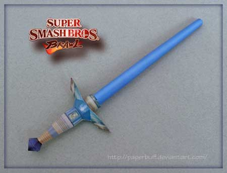 SSBB Beam Sword Papercraft