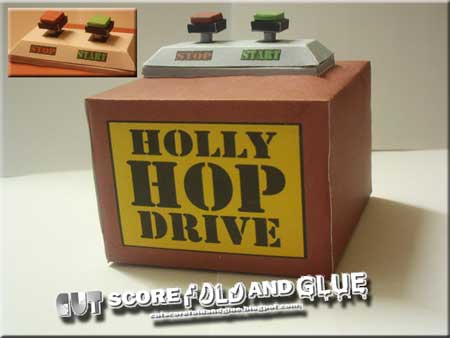 Red Dwarf Holly Hop Drive Papercraft