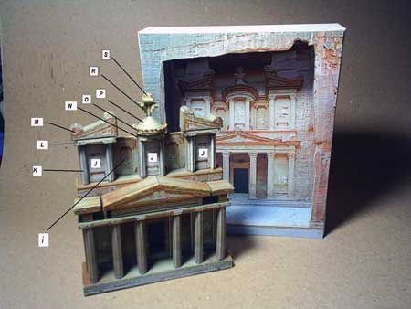Petra The Treasury Papercraft