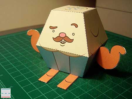 Mr. Cupcake Papercraft