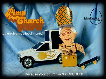 Pimped Out Popemobile & Pope Benedict XVI Papercraft