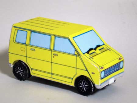 Honda Life Step Van Papercraft