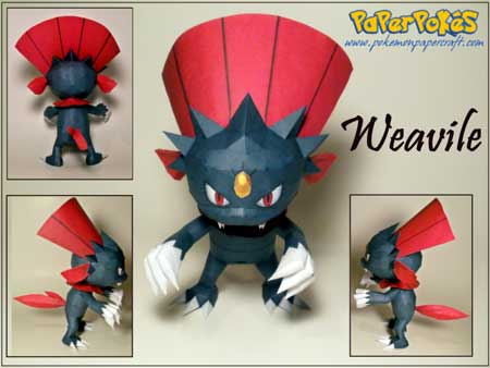 Pokemon Weavile Papercraft