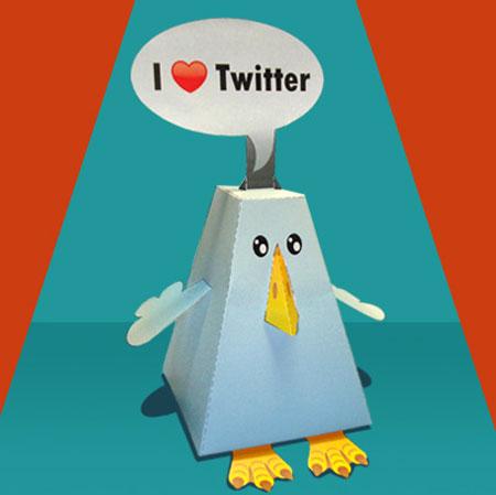 Twitter Bird Papercraft