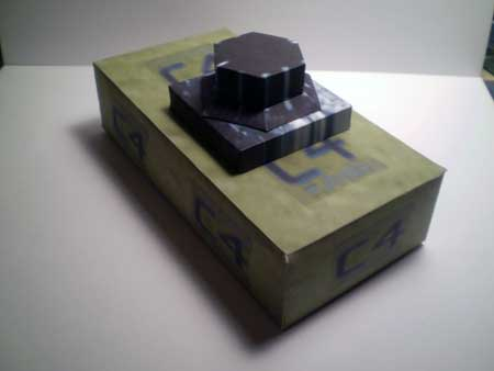 Plastic Explosive Papercraft