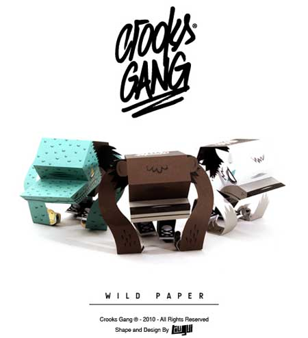 Crooks Gang Paper Toy Wild Paper