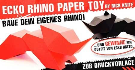 Ecko Rhino Papercraft