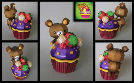 Rilakkuma Happy Cupcake Papercraft
