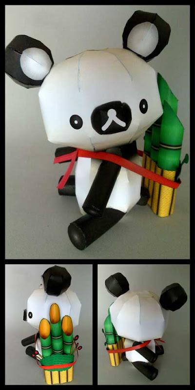 Panda Rilakkuma Papercraft