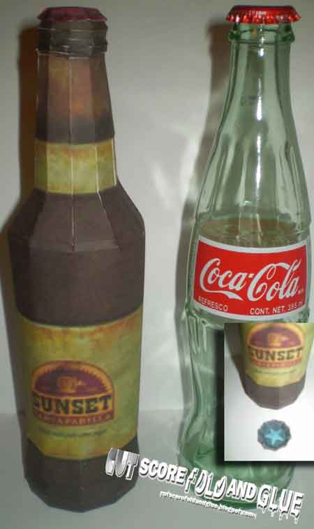 Sunset Sarsaparilla Papercraft