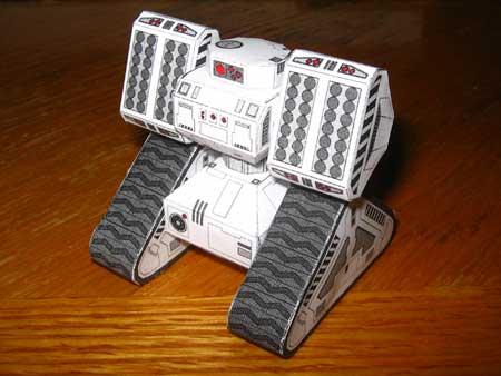 Stalwart Robotic Missile Tank Papercraft