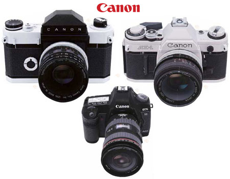 The Ultimate Canon SLR / DSLR Papercrafts (Canonflex, AE-1, & EOS 5D