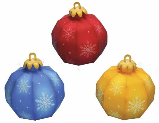 Christmas Tree Ball Ornament Papercraft