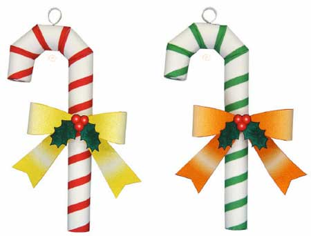 Christmas Tree Candy Cane Ornament Papercraft