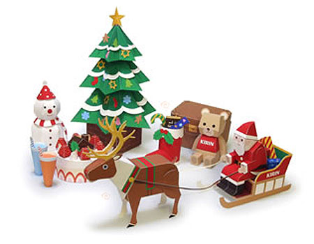 2010 Christmas Papercraft Set Kirin