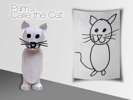 Callie the Cat Papercraft
