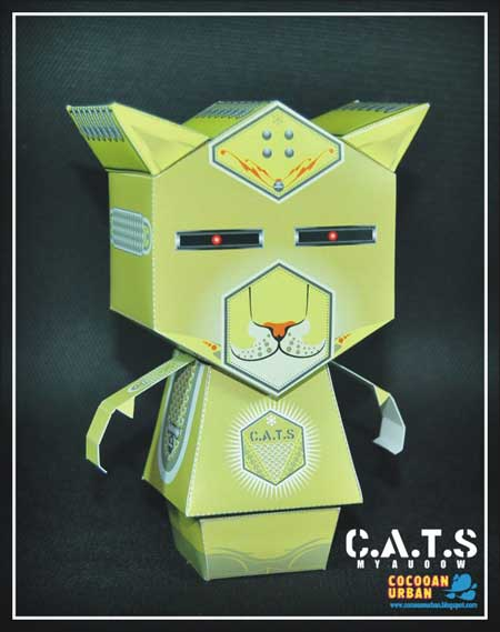 CATS myauoow & Le'el Paper Toy