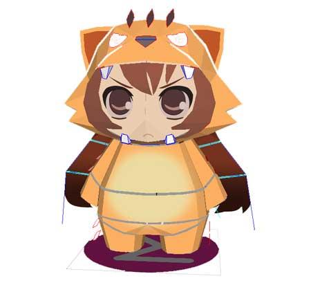 Toradora Chibi Taiga Aisaka Papercraft