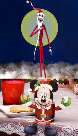 Santa Jack Papercraft & Mickey Mouse Santa Candy Box