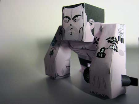 GORO Paper Toy Henry Rollins