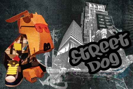 Street Dog Paper Toy - Casey Thomas