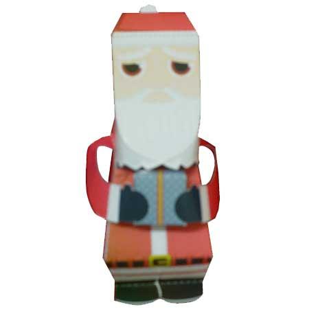Sad Santa Papercraft