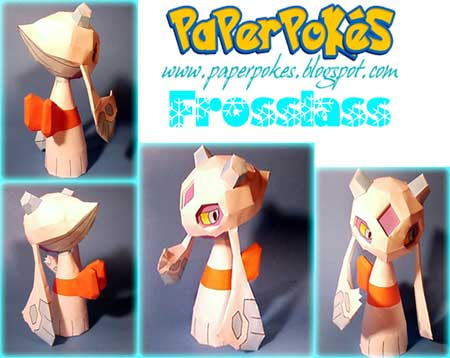 Pokemon Froslass Papercraft