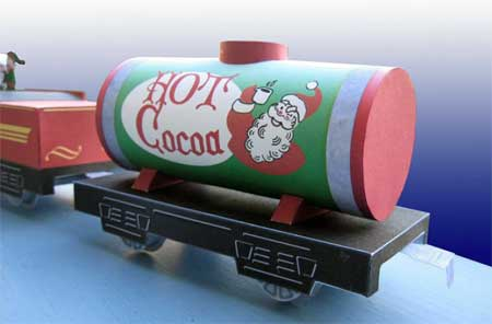 Santa's Hot Cocoa Tank Car Papercraft