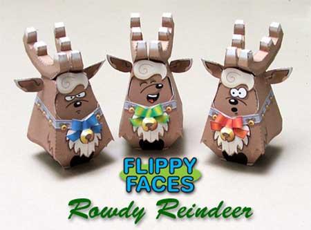 Rowdy Reindeer Papercraft