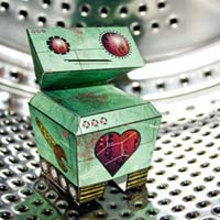 Romantical Robot Papercraft 01 Bashful Bot