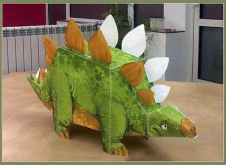 Metro Lekeland Papercraft Dino Stegosaurus