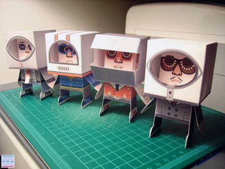 Far East Movement Papercraft