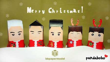 BIGBANG Christmas Papercraft