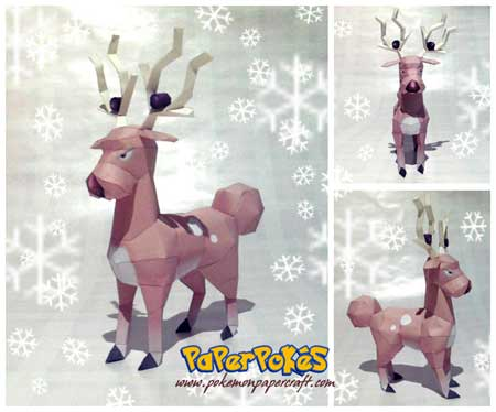 Pokemon Stantler Papercraft
