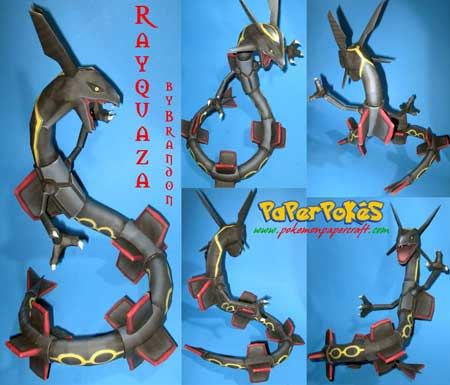 Pokemon Rayquaza Papercraft
